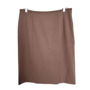 NWOT Anne Klein Brown Skirt